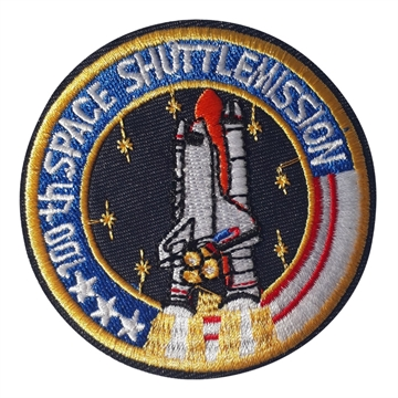 "Strygemærke-cirkelform-rumraket-""100 th space shuttlemission"""